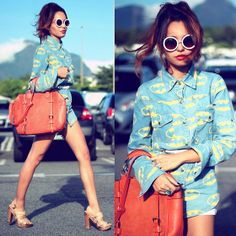 Indressme Shirt, Chicwish Bag, Romwe Sunglasess