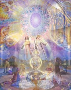 """""""Sacred Marriage""""  -holographic art by Amoraea"""