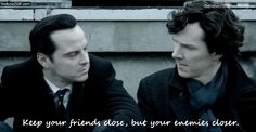 Sheriarty GIF - Keep your friends close by Aine0686