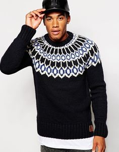 Hawkings McGill Zigzag Print Sweater From UO Actually