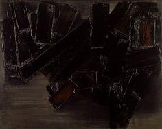 Mir barcelone tes art abstrait et abstrait for Affiche pierre soulages