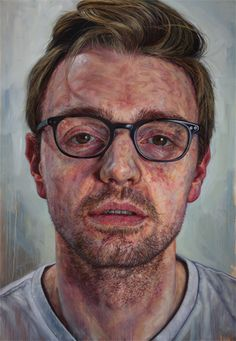 """Self-Portrait"" - Ian Cumberland (b. oil on linen, 2013 {figurative art… Portrait Inspiration, Painting Inspiration, Oil Portrait, Portrait Paintings, A Level Art, National Portrait Gallery, Exhibition, Wow Art, Photorealism"