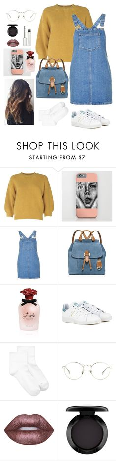"""Untitled #1662"" by cassidy-krystine ❤ liked on Polyvore featuring 3.1 Phillip Lim, Topshop, MICHAEL Michael Kors, Dolce&Gabbana, adidas Originals, Hue, Linda Farrow, Lime Crime, MAC Cosmetics and Givenchy"