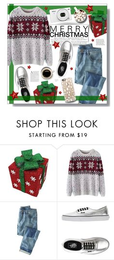 """""""Unwrapping Presents"""" by aekemp-1 ❤ liked on Polyvore featuring Chicnova Fashion, Wrap, Vans, H&M, Casetify, Anja, women's clothing, women's fashion, women and female"""