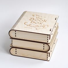Wooden BOOK-BOX with sliding bolt latch.  http://cartonus.com/book-box/   Vector model / project plan for laser cutting Create of plywood 3,2 mm (1/8 inch)