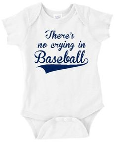 84431764989 FREE SHIPPING There s no crying in by SomethingBlueDesigns on Etsy Baseball  Onesie
