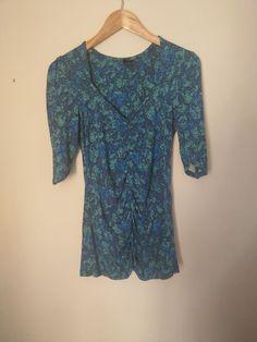 100/% Cotton Lemon Embroidered Crinkle Cap Sleeve Blouse Women Roman Originals