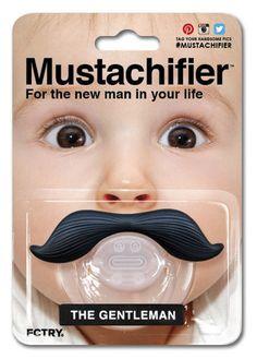 The Gentleman Mustache Pacifier by Mustachifier | Mustachifier Uncle Fun (773-477-8223), Rotofugi (773-868-3308), Little Threads (773-327-9311), Twinkle Twinkle Little One (773-472-3000), RR#1 (312-421-9079), Paper Doll (773-227-6950)