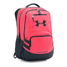 Under Armour® Pink Chroma Storm Hustle II Backpack Mochila Under Armour, Under Armour Backpack, Best Backpacks For School, Cool Backpacks, Teen Backpacks, Leather Backpacks, Leather Bags, Backpack For Teens, Backpack Bags