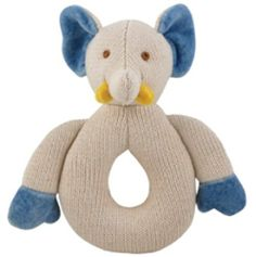 Miyim Simply Organic Kint Rattle Teether, Elephant, 0-3 Months by miYim. $10.74. From the Manufacturer                Our organic knit teethers are safe and natural. The organic knit material is durable and massages your child's gums as they chew. They are made with certified organic and natural cotton. They come in 3 styles - bunny, elephant, and bear. Our collection of naturally colored, organic cotton toys are 100 percent natural, with no chemical treatments. All-natural toy...