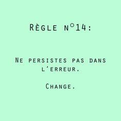 Erreur / Changer