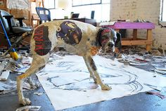 paper mache will kurtz dog