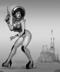 space_girl_by_robotpencil-d3ccnhf.jpg 1200×1426 pixels