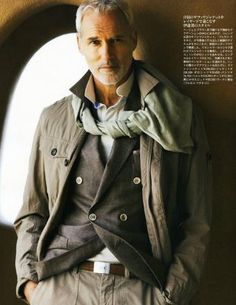 Yaron Fink, Israeli-Canadian model, b. Stylish Mens Fashion, Stylish Menswear, Men Over 40, Canadian Models, Fashion Days, Men's Fashion, Mens Attire, Older Men, Well Dressed Men