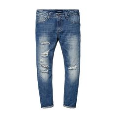 Famous Vintage Mens Jeans Casual Hole Zipper Denim Pants Man Trousers Plus Size