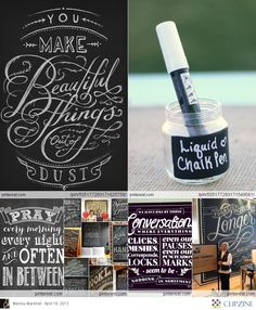 "Chalkboard Art- love the ""you make beautiful things"" quote"