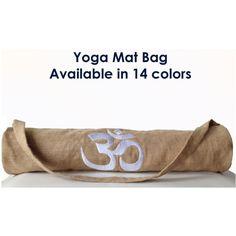 Handmade Yoga Mat Bag, Yoga Tote Bag, Burlap Yoga Mat Bag, Yoga Totes,... (4,250 INR) via Polyvore featuring custom yoga bag, yoga tote bag and yoga totes