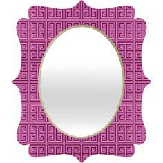Violaceous Quatrefoil Mirror | #mirror #valentine #love #office #apartment #home #dorm #college #denydesigns