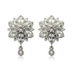 Gorgeous Clear Cubic Zirconia with Post Back Earrings