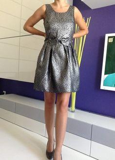 Kup mój przedmiot na #vintedpl http://www.vinted.pl/damska-odziez/krotkie-sukienki/9578727-sukienka-kokardka-rozkloszowana-wesele-panterka