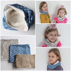 De cirkelsjaal die je 1 maal om het hoofd wikkelt.Deze sjaals kan je maken uit restjes stof, je hebt er immers niet zo veel stof voor nodig.Je kan gebruik maken van tricot, katoen, fleece, teddyfleec