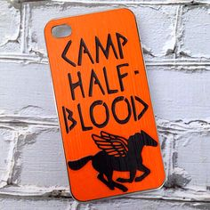 "HANDMADE ""Camp Half-Blood"" Percy Jackson inspired Case!"