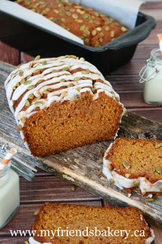 Pumpkin Loaf With Vanilla Icing | My Friend's Bakery
