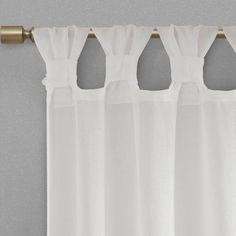 Shop for Madison Park Florah Floral Embellished Cuff Tab Top Solid Window Panel. Get free delivery On EVERYTHING* Overstock - Your Online Home Decor Outlet Store! Tab Top Curtains, Cool Curtains, Beautiful Curtains, Hanging Curtains, Window Curtains, Bedroom Curtains, Colorful Curtains, Curtain Styles, Sheer Drapes