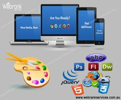 #WebRankServices provides innovative custom web designs to all or any industries suit their needs and audience expectations. an acceptable design of your web site won't solely attract your customers and keep them fascinated by looking the services and product you provide however conjointly assisting on-line looking of visitors once coded and optimized with efficiency. http://webrankservices.com.au/what-we-do/web-designing/