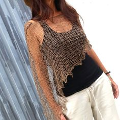Hey, I found this really awesome Etsy listing at https://www.etsy.com/listing/197836540/boho-style-poncho-knitted-linen-wrap
