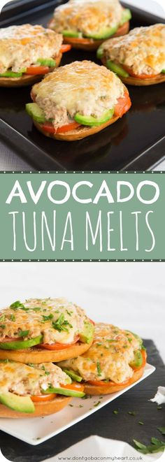 Avocado Tuna Melt Bagels is part of Healthy recipes - 'Avocado Tuna Melt is the perfect after school snack for the kids, or simply a quick and easy lunch for the Tuna lovers among us! Tuna Recipes, Healthy Diet Recipes, Healthy Meal Prep, Healthy Snacks, Healthy Eating, Cooking Recipes, Recipes Dinner, Cooking Tips, Recipes For Snacks