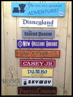"""""""See YOUR favorites memories come alive with this custom, personalized sign with all of your favorite rides and attractions from the Happiest Place on Earth!"""" See Your Favorite Disneyland or Disney World by AWholeLottaHoopla, $75.00"""