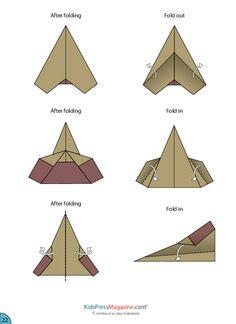 Paper Airplane Instructions – Sleek Jet Advanced - KidsPressMagazine.com