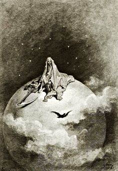 Gustave Doré (French, 1832-1883) Illustrations for Edgar Allan Poe's The Raven, 1883