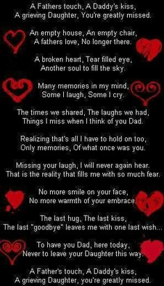 Daddy this is now my reality. Words can't explain how much I miss you but this comes close. I love you daddy! Missing My Dad Quotes, Dad In Heaven Quotes, Miss You Dad Quotes, Missing Dad, Daddy Quotes, Dad Poems, Grief Poems, Miss My Daddy, Rip Daddy