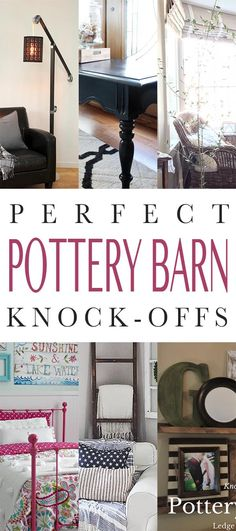 We know how you all love Knock-Offs…so each week we try to bring you a collection of new ones that you will enjoy! Well today it is all about Fun Pottery Barn Knock-Offs! The best thing about all of these DIY Projects is that they are budget friendly and come with spot on tutorials. From …