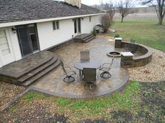 Backyard Paver Patio - Eastvold Landscaping