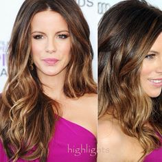 Balayage Highlights and Balayage Ombre for Spring 2014 celebrity Kate Beckinsale's highlights styles