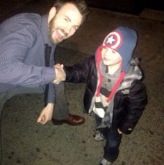What a Sweetheart! Maybe he really is Captain America! :) <-- What do you mean 'maybe'?