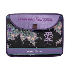 Lavender Love Symbol Chinese Character Sleeve For MacBooks  $74.10