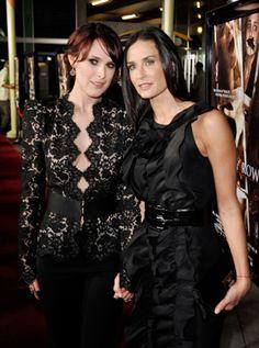 Actors Rumer Willis, left, and her mother, Demi Moore