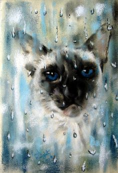 """""""Another Bank Holiday Monday"""" par Paul Knight Watercolor Cat, Watercolor Paintings, Watercolors, Diviant Art, Symbolic Art, Knight Art, Holiday Monday, Bank Holiday, Window Art"""