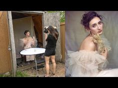 Photographer Irene Rudnyk proves you don't need a fancy setup to take enchanting portraits. She created a DIY photo studio out of a shed! Home Studio Photography, Creative Portrait Photography, Headshot Photography, Photography Tutorials, Beauty Photography, Digital Photography, Photography Studios, Inspiring Photography, Photography Lighting
