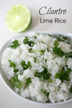 Cilantro Lime Rice. Awesome side dish for Mexican meals!