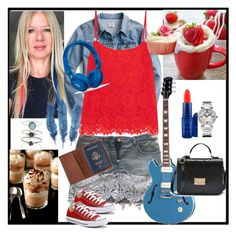 """""""Blue and Red"""" by silvia-viotti on Polyvore featuring moda, J.Crew, MAC Cosmetics, Dolce&Gabbana, Accessorize, Converse, TOMS, Chopard, Christopher Kane e Beats by Dr. Dre"""