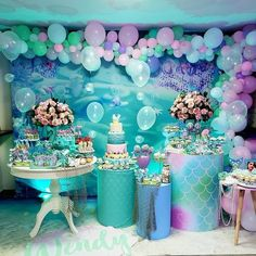 Advertisement - Mermaid Party Supplies Birthday Decorations for Girl's Party and Baby banner net Mermaid Theme Birthday, Little Mermaid Birthday, Little Mermaid Parties, Mermaid Party Decorations, Birthday Party Decorations, Under The Sea Party, Mermaid Baby Showers, 1st Birthday Parties, Party Ideas