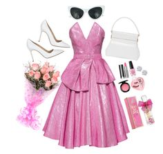 """""""Barbie Barbie"""" by pastel-bear on Polyvore featuring Manolo Blahnik, Christian Dior, Lena Hoschek, Retrò, Givenchy, MAC Cosmetics, Medusa's Makeup, OPI, Effy Jewelry and Juicy Couture"""
