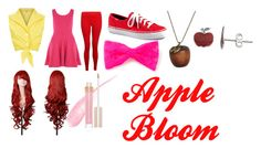 """""""Apple Bloom Closet Cosplay"""" by thecrystalheart on Polyvore featuring Hey Jo, Forever 21, Emi Jewellery, Itsy Bitsy and Stila"""