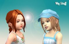 I made this hair for women and decided to convert it for the little little girls I hope you enjoy ! Available in default textures, al...