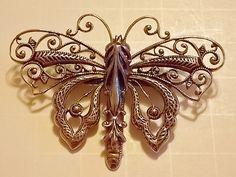 Vintage Butterfly Convertible Brooch by PortRayneBoulevard on Etsy